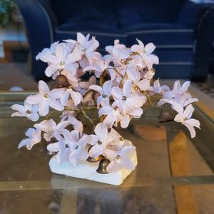 """Decorative tree with bells - about 6"""" on marnle base for Sale in Manchester, CT"""