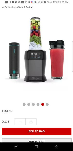 Ninja blender with Auto-is fresh vac Technology. for Sale in Columbia, MD