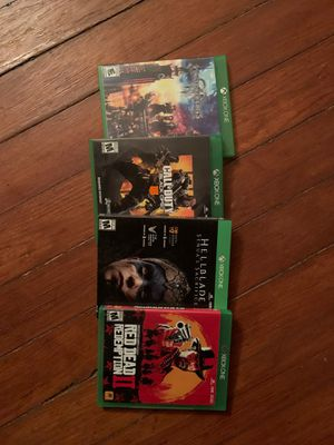 XBOX GAMES FOR SALE for Sale in San Antonio, TX