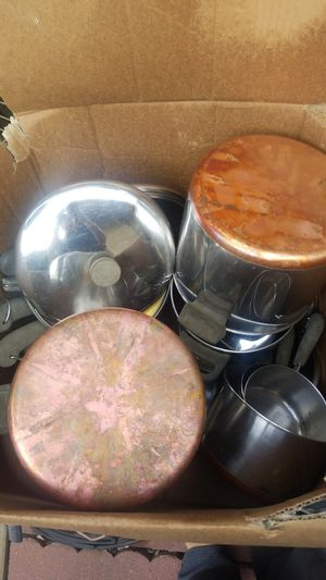 Stainless steel copper bottom pots and pans for Sale in San Dimas, CA