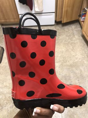 Lady bug rain boots for Sale in Stoneham, MA