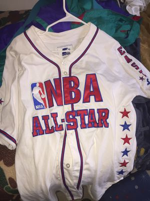 NBA all star baseball jersey size large for Sale in Germantown, MD