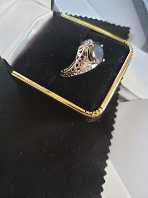 100% real black mossianite diamond 3.39ct set in solid silver like new for Sale in Meriden, CT