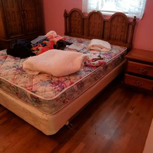 Queen Bed, Mattress, Box Spring And Headboard for Sale in Portland, OR