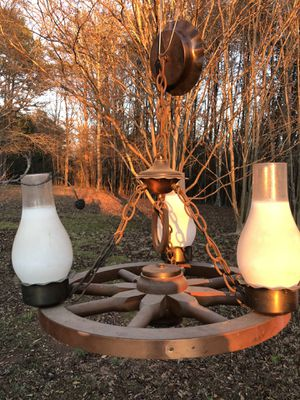 Antique Wagon Wheel Lights for Sale in Greer, SC