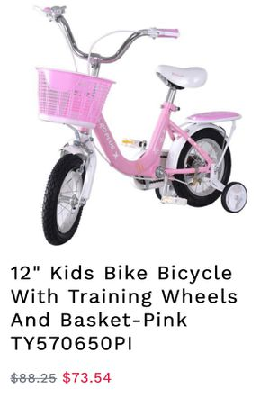 New ! Kids bike with training wheels for Sale in Rancho Cucamonga, CA