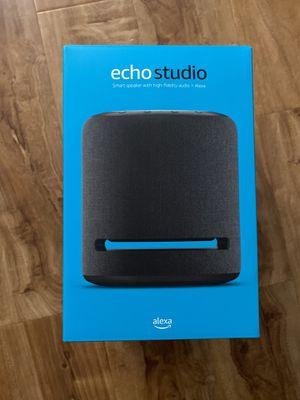 Echo Studio smart Speaker with high-fidelity audio + Alexa for Sale in Garden Grove, CA