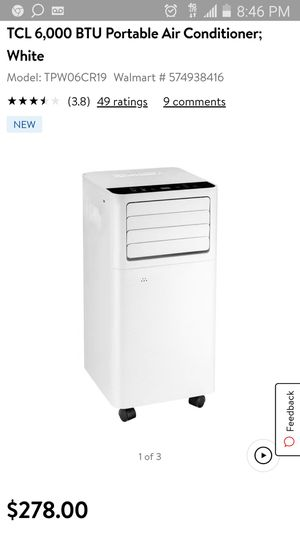 Tcl portable ac unit for Sale in Norfolk, VA