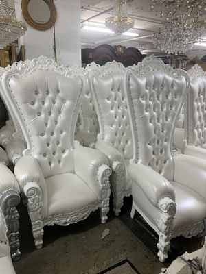 Beautiful throne chair.$1800 each. Best offer for Sale in Brooklyn, NY