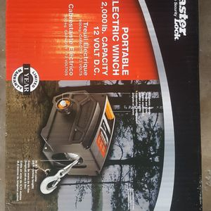 12V DC Portable Electric Winch 2,000lb Capacity for Sale in San Diego, CA
