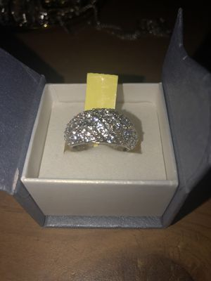 Sterling silver ring size 8 (with simulated diamonds) for Sale in Irving, TX