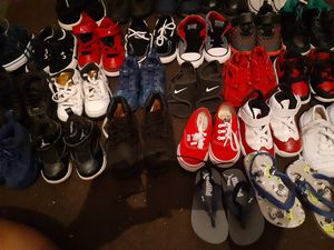 Toddler boys shoes sizes 5c,6c and 7c nikes,vans,converse, Jordan's, timberlands, pumas, polo and nautica. for Sale in Fort Lauderdale, FL