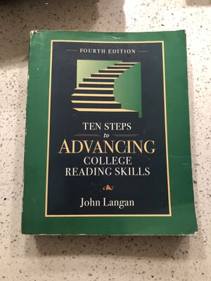 Ten Steps To Advancing College Reading Skills by John Langan for Sale in Artesia, CA