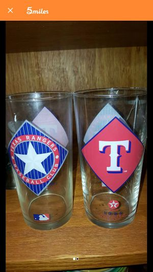 4 COLLECTIBLE TEXACO RANGERS GLASSES for Sale in Grand Prairie, TX