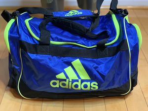 Green and blue adidas duffel bag for Sale in Fort Washington, MD