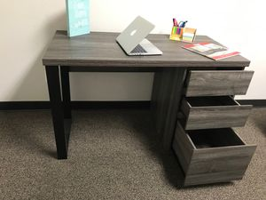 Desk, Distressed Grey and Black for Sale in Garden Grove, CA
