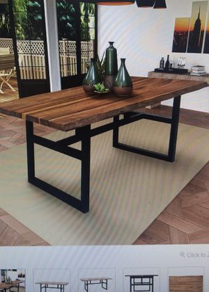 Gable Live Edge Rustic and Modern Wood Dining Room Kitchen Table - NEW IN BOX for Sale in Castro Valley, CA