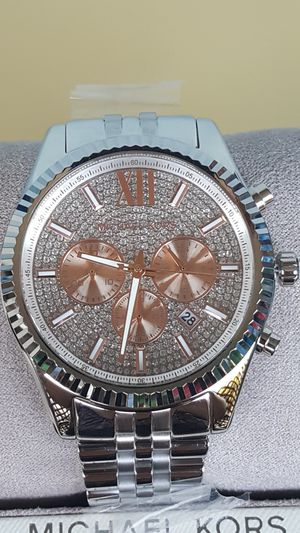 New Authentic Michael Kors Men's BOLDFACE Bling Watch for Sale in Commerce, CA