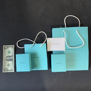 Tiffany & Co. Empty Blue Box, Suede Pouch Gift Bag, & box packaging (Sold Separately) for Sale in Plano, TX