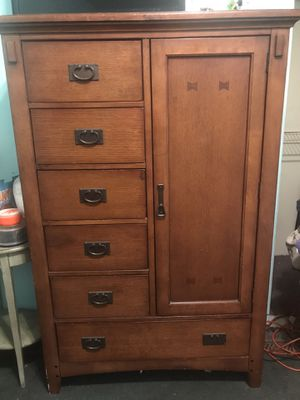 Brown Solid Wood Children Armoire with Mirror for Sale in Hialeah, FL