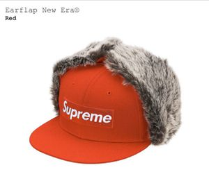 SUPREME EARFLAP NEW ERA RED HAT SIZE 7 1/4 FW19 for Sale in Chevy Chase, MD