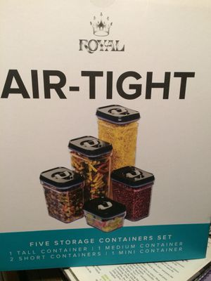 5 pc Air tight canister set for Sale in Lawrence Township, NJ