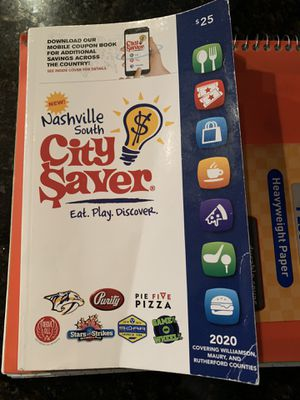 City saver coupon book 2020. Has all the coupons for Sale in Brentwood, TN