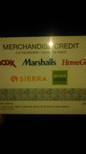 TJ Max Store Credit for Sale in Gilroy, CA
