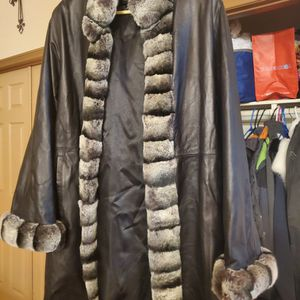 Vintage Fur And Leather Coat for Sale in Rosamond, CA