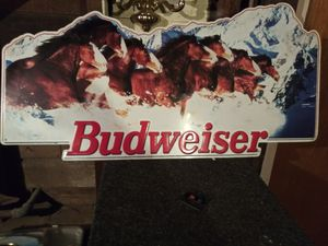 Tin budweiser sign for Sale in Martinez, CA