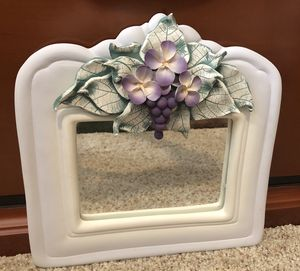 Beautiful hand- crafted ceramic small mirror wall decor ! for Sale in Columbia, PA
