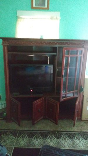 Cherry wood. Entertainment Center for Sale in Newton, KS