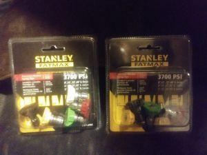 Two packs Stanley pressure washer spray tips for Sale in Spokane, WA