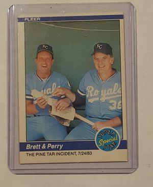 84 Fleer Brett & Perry Pine Tar Incident for Sale in Hacienda Heights, CA