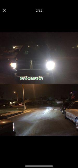 Super Bright White LED headlight Solutions H1 H4 H7 H8 H9 H10 H11 H13 for Headlight for Sale in West Covina, CA