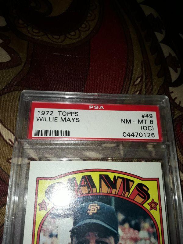 1972 Topps Willie Mays PSA MT 8