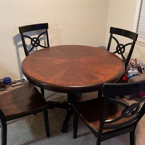 Breakfast Table & 4 Solid Wooden Chairs for Sale in Paramus, NJ