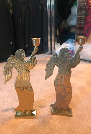 Angel candle holders x2 candles included for Sale in Cupertino, CA