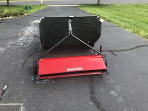 Craftsman lawn sweeper excellent condition riding mower attachment not agri-fab John Deere for Sale in Ashburn, VA