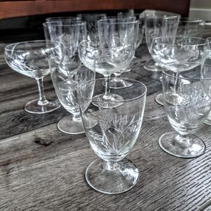 16 vintage Crystal glassware set. Beautiful collection. like new condition. for Sale in Kirkland, WA