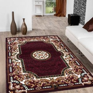 Burgundy color area rug brand new 5x7 feet thick quality for Sale in Salem, OR