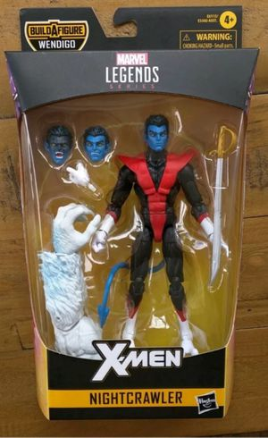 Marvel Legends X-Men Nightcrawler Collectible Action Figure Toy with Wendigo Build a Figure Piece for Sale in Chicago, IL