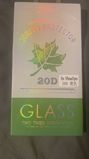 iPhone 11 Pro tempered glass screen protector for Sale in Longview, TX