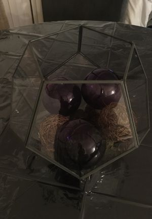 Table decor with glass balls for Sale in Alexandria, VA