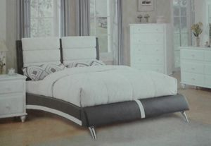queen leather bed. brand new for Sale in St. Cloud, MN