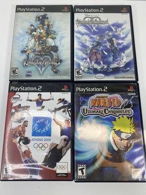 PS2 Games Lot Kingdom Hearts Naruto Athens for Sale in El Segundo, CA