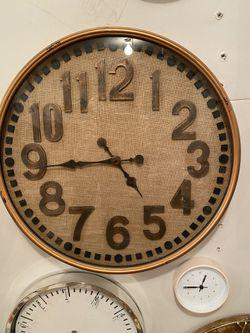 Steamer Burlap Clock for Sale in Saugus,  MA