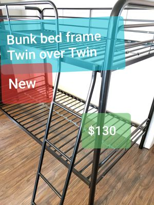 Bunk bed frame Twin over Twin. New. Free delivery Modesto Stockton for Sale in Modesto, CA