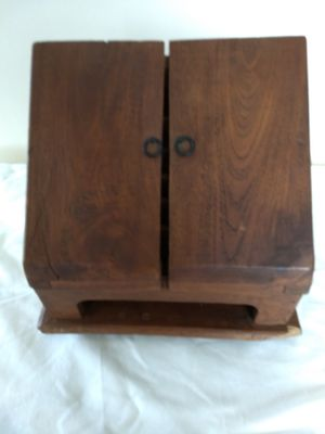 Antique Vintage Small Oak Stationery Writing Cabinet for Sale in Seattle, WA