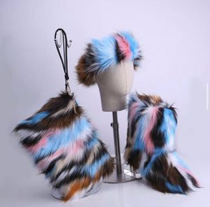 Fur head band, purse, and boots for Sale in Fort Lauderdale, FL
